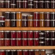 Shelves of jams and jellies — Stock Photo #12492199
