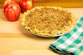 Fresh crumb top apple pie — Stock Photo