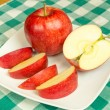 Jonagold apple slices on a white plate — Stock Photo #15741977