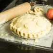 Apple pie with decorated crust — Stock Photo #15742011