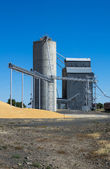 Silo and grain elevator — Stock Photo