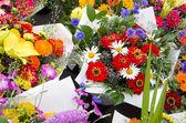 Visualizzazione dei mazzi di fiori — Foto Stock