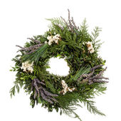 Holiday wreath with lavender — Stock Photo