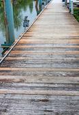 Old boardwalk or dock — Stock Photo