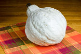 Blue hubbard squash on the table — Stock Photo