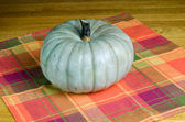 Jarrahdale squash on a wooden table — Stock Photo