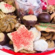 Festive holiday cookie tray — Stock Photo #19252433