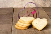 Stack of short bread cookies — Stock Photo