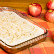 Apple sheet cake with red apples — Stock Photo #21265323