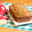 Apple cake with sliced apples — Stock Photo #21265343