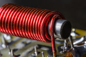 Iron core with electrical wire wrap — Stock Photo