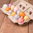 Naturally dyed Easter eggs for holiday — Photo