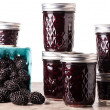Постер, плакат: Fresh blackberry jam in jars