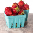 Boxes of fresh sweet strawberries — Stock Photo #27472627