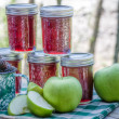 Stock Photo: Homemade blackberry apple jam