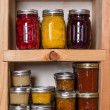 Storage shelves with canned food — Stock Photo #32754703