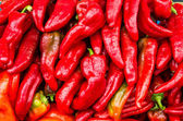 Red hot peppers at the market — Stock Photo