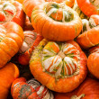 Turban squash on display at the market — Stock Photo