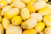Spaghetti squash at the farmers market — Stock Photo
