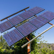Stock Photo: Solar panel provides energy in remote location