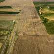 Aerial view of agricultural fields — Stock Photo #47595685