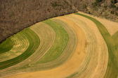 Aerial view of agricultural fields — Stock Photo