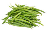 Fresh picked green beans isolated — Stock Photo
