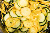 Squash slices in brine for canning — Stock Photo