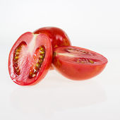 Red ripe paste tomatoes isolated — ストック写真