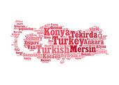Turkey map info-text graphic and arrangement concept — Stock Photo