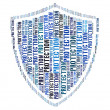 Royalty-Free Stock Photo: Protection text on shield graphic and arrangement concept