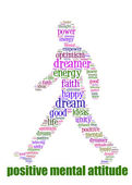 PMA Word Cloud Concept great terms such as Positive Mental Attit — Stock Photo