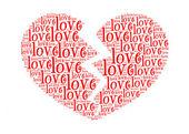 любовь текст в сломанной любовь текст обозначения графики и договоренности co — Стоковое фото