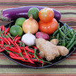 Platter of assorted fresh vegetables — Stock Photo