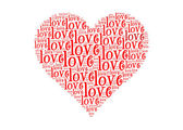 Love text in love symbol-text graphics and arrangement concept — Stock Photo