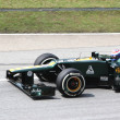 Stock Photo: SEPANG, MALAYSI- MARCH 23: Finnish RussiVitaly Petrov is re