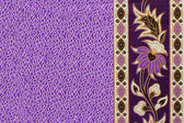Beautiful batik patterns that become border or frame for text sp — Stock Photo