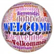 Welcome concept word in many languages of the world. — Stock Photo