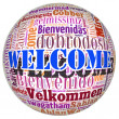 Welcome concept word in many languages of the world. — Stock Photo #32796979