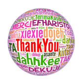 Thank you globe concept word in many languages of the world. — Stock Photo