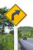Destra taglienti curva — Foto Stock