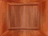 пустой межкомнатные деревянные в стиле гранж — Стоковое фото