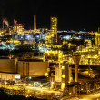 Night scene of chemical plant - Stock Photo