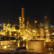 Stok fotoğraf: Night scene of chemical plant