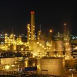 Stock Photo: Night scene of chemical plant