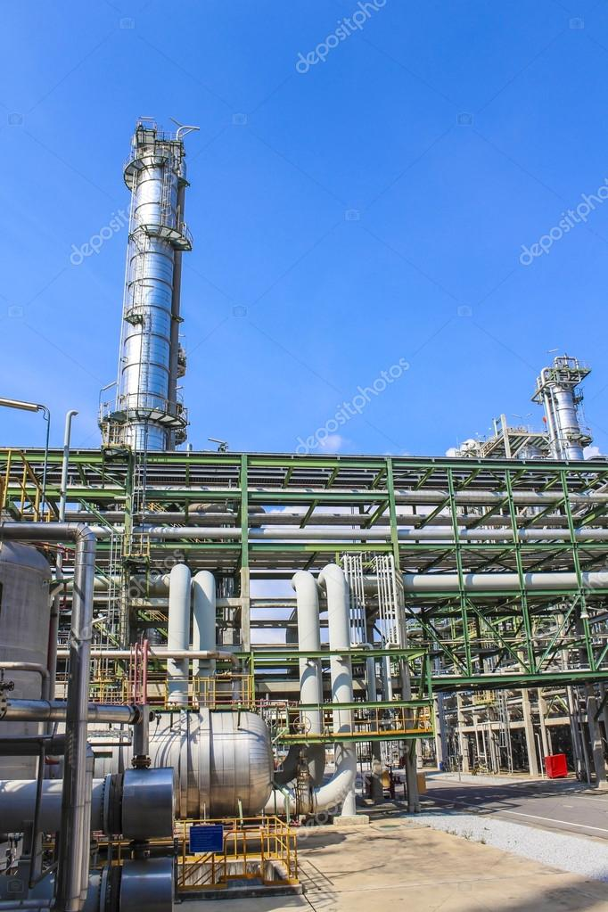 Structure of Oil and chemical factory in day time  Stock Photo #14170342