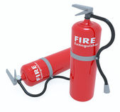 Red Tank of Fire extinguisher — Stock Photo