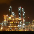 Night scene of chemical plant - Stockfoto