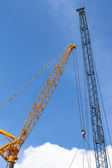 Crane with blue sky — Stock Photo