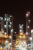 Petro and chemical plant - night scene — Stock Photo